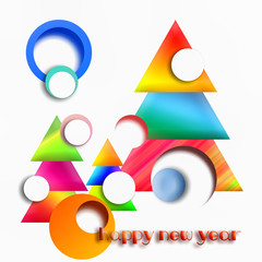 Abstract geometric new year banner