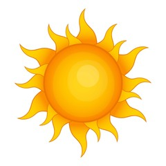 Sun icon. Cartoon illustration of sun vector icon for web design