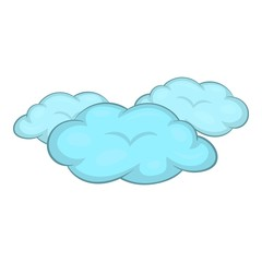 Clouds icon. Cartoon illustration of clouds vector icon for web design