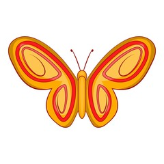 Summer butterfly icon. Cartoon illustration of butterfly vector icon for web design