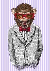 sketch of monkey