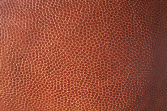 Closeup of leather football texture