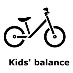 Kids balance bike icon. Simple illustration of kids balance bike vector icon for web