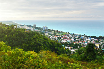 the picturesque landscape on the black sea coast