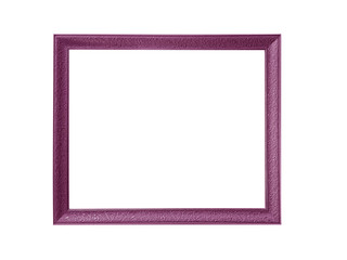 purple picture frames isolated on white background