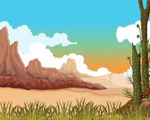 beauty landscape background with desert