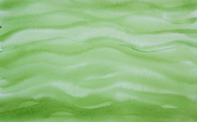 Green wave watercolor texture background