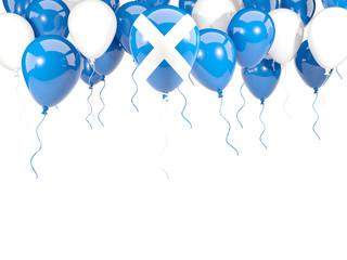 Flag of scotland on balloons