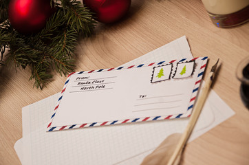 New Year's letter to Santa Claus