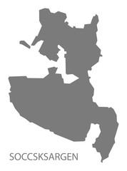Soccsksargen Philippines Map grey