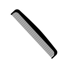 comb icon over white background .hair saloon design. vector illustration