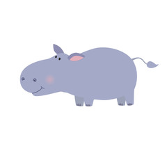 Fun hippo vector illustration.