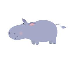 Fun hippo vector illustration.