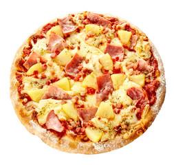 Oven-baked delicious Italian Hawaiian pizza