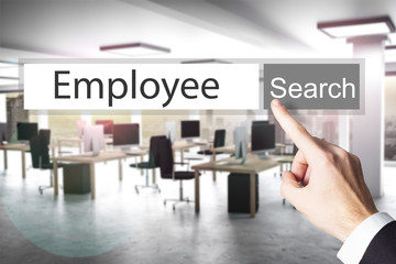 websearch new grey search button employee 3D Illustration