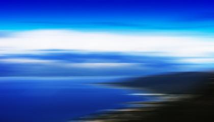 Horizontal motion blur beach landscape background