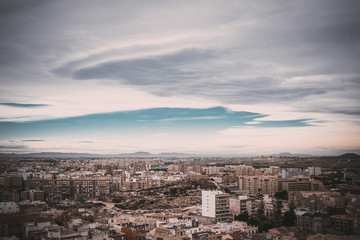 Panoramic view over the city of Cartagena, Spain