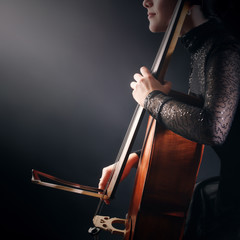 Cello player cellist playing violoncello