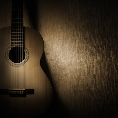 Acoustic guitar classical music instruments