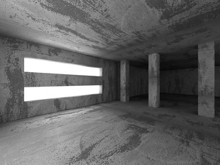 Abstract concrete architecture basement room geometric backgroun