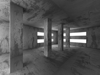 Dark concrete empty room interior background