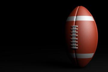 American Football. 3D illustration