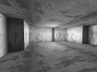Dark concrete empty room interior background