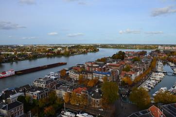 Aerial photo of the city Dordrecht, Netherlands