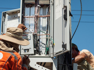 Electrician repairing electricity