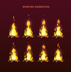 Bonfire animation sprites
