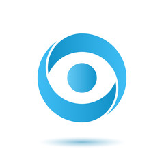 Opened eye logo, media agency concept