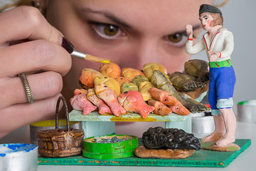 Fishmonger in miniature
