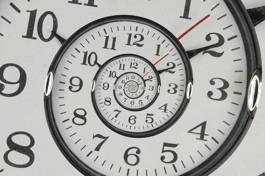 Droste effect clock