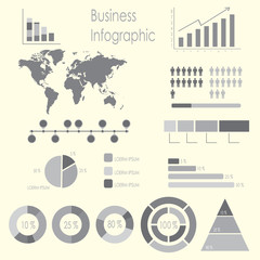 Set of infographic elements template