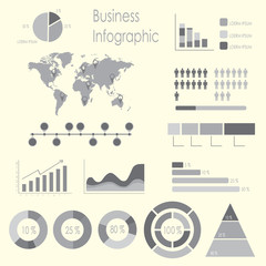 Set of infographic elements template.