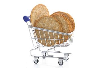 Biscuits dans chariot