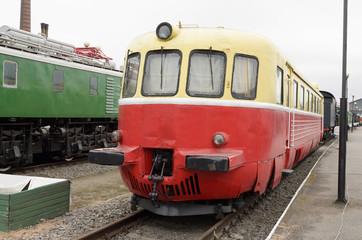 Train on the railroad.