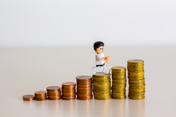 toy man goes on the coins