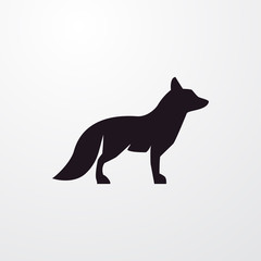 fox icon illustration