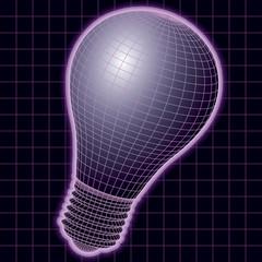 wireframe lightbulb vector