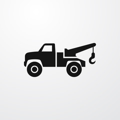 trailer truck icon illustration