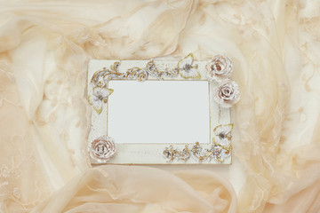 Vintage blank frame. Ready for photography montage