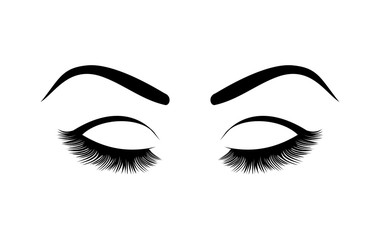 Eyelashes vector illustration