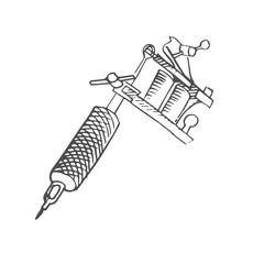 tattoo gun scetch. vector