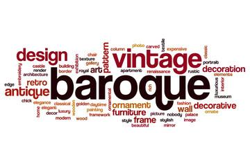 Baroque word cloud