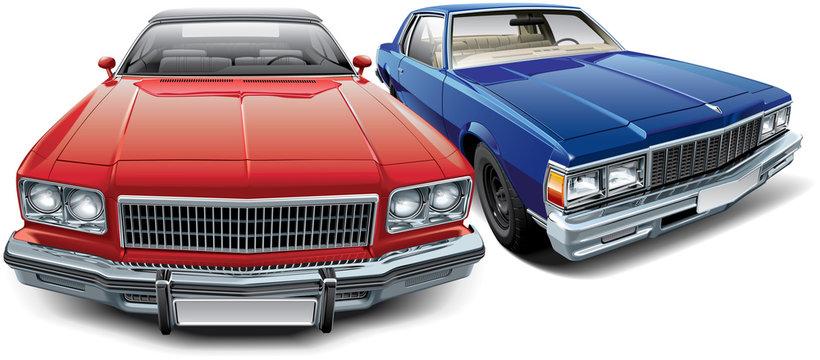 Two American vintage automobiles