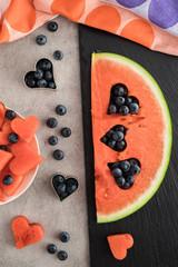 Wassermelone mit Herz