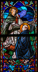 Saints Dominic and Thomas Aquinas - Stained Glass