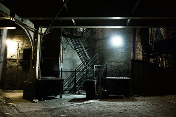 Fotomurales - Dark City Alley