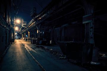 Fototapete - Dark City Alley